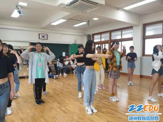 中韩文化交流之舞蹈教学