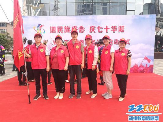 34中行政组志愿者合影