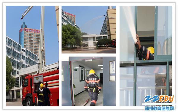 消防官兵演练救援全过程