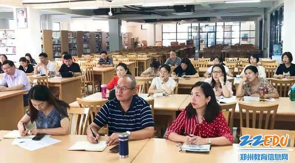 3姚强督学、国际部主管主任张宏、教务处副主任崔杨柳参加文科教研