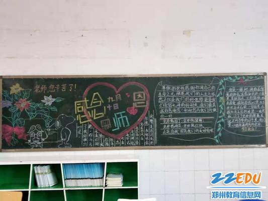 郑州九中高二(5)班黑板报