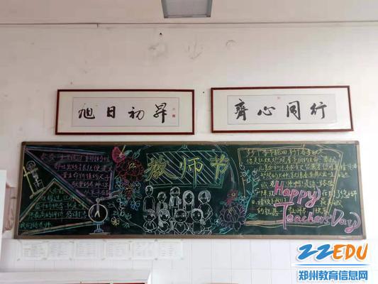 郑州九中高二(12)班黑板报