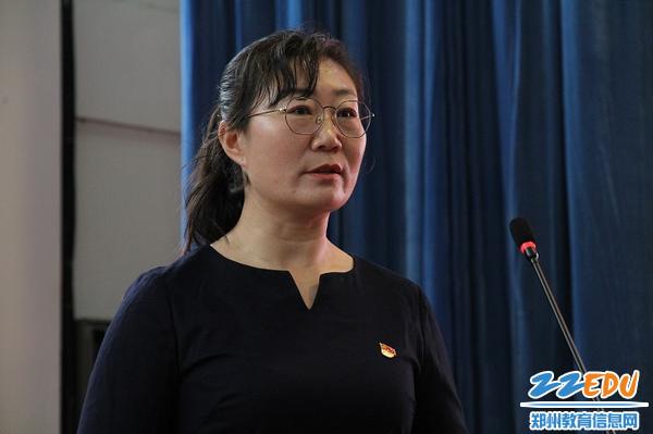 4中原区航海西路小学刘丽娟老师做宣讲