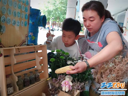 3给幼儿讲解植物角的知识
