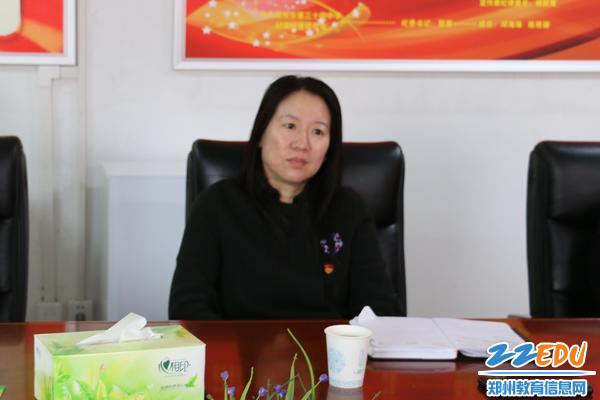 郑州34中党委书记、校长易峰汇报工作