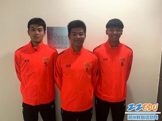 本次入选中国中学生足球联队的队员