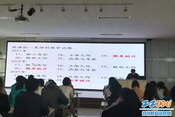 数学组优秀教师张红伟总结高考题型
