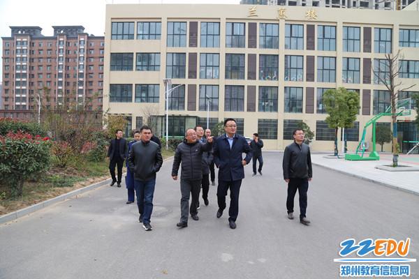 郑州市校园及周边安全建设年活动督导组到我区开展督导检查