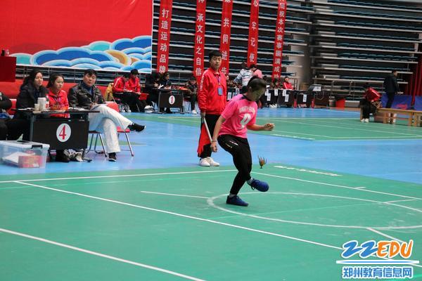 女子盘踢第三名马西亚参赛中