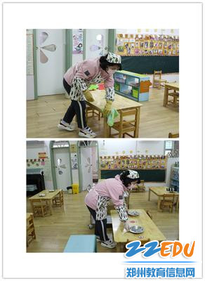 11、班级保育老师餐前消毒及模拟为幼儿分餐