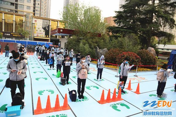 """郑州市第二高级中学以""""有序""""为准则进行高三复学工作"""