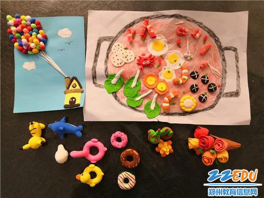 超轻黏土社团的学生作品