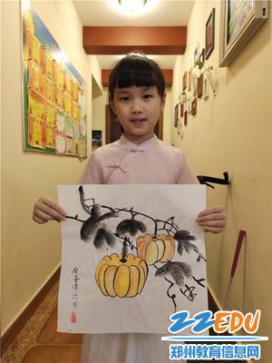 国画社团学生的作品展示