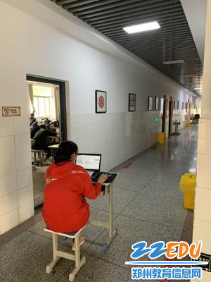 九年级教师郑雅娟中午辅导