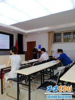 九年级教师张锦程介绍经验