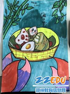 6.22惠济区黄河桥小学 端午节手绘粽子 作品3_调整大小