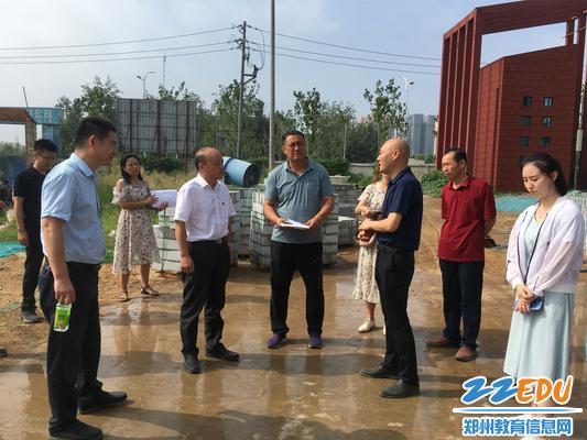 田国安局长再次了解中州大道小学新校区工程建设进度