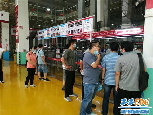 参观格力电器(郑州)有限公司生产线