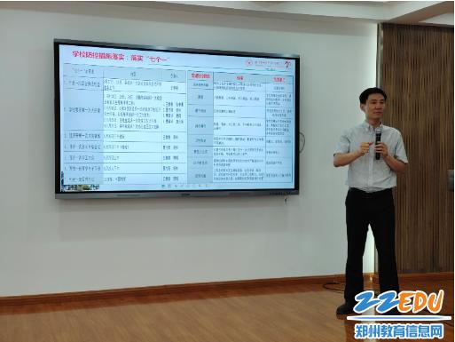 郑州市回民高级中学王春前副校长进行培训