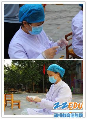 7保健醫老師結束工作后清理自己的汗水