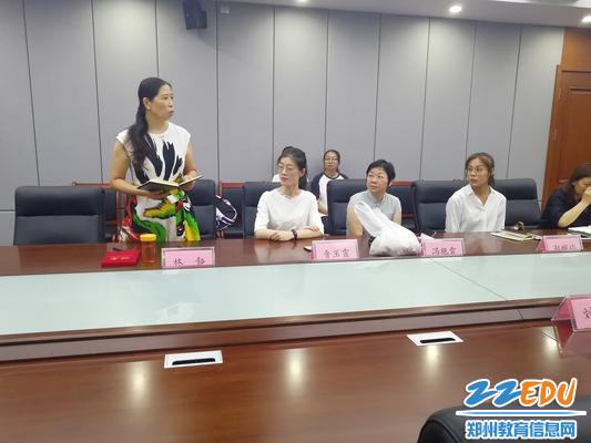 指导教师代表林静发言