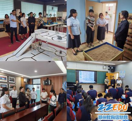 6 评估小组参观57中社团教室,了解学校社团活动的开展情况