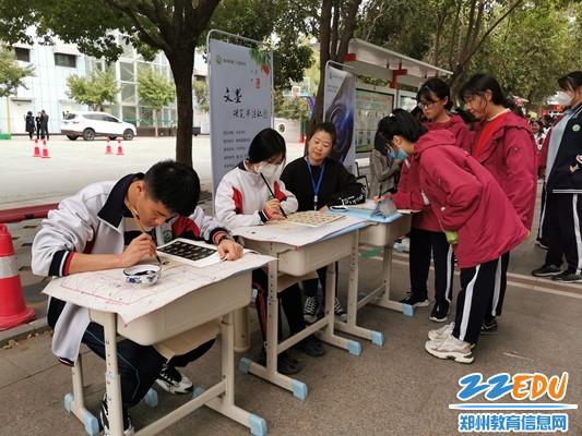 郑州24中文墨书法社招新现场