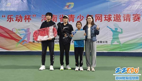 1、范欣然喜获乐动杯河南省青少年网球邀请赛女子初高中组单打冠军