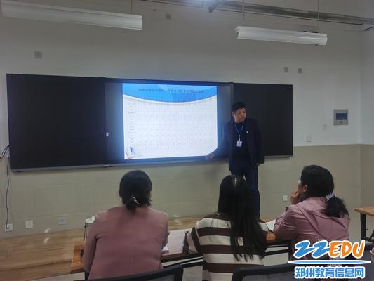 高中部政教处主任宁纪生布置工作