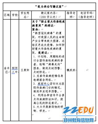 王宸轩同学的微议案