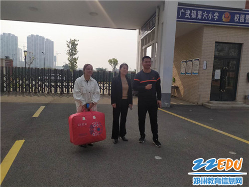领导赴广武六小看望支教老师樊丽娜