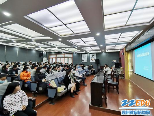 郑州市科技工业学校举行肺结核科普知识讲座