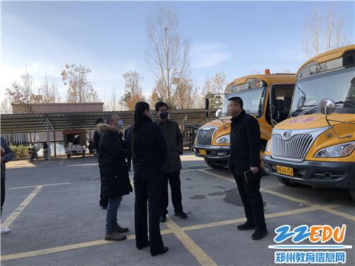 省教育厅刘志清科长询问运营企业对校车的管理情况
