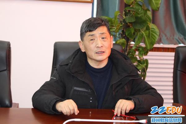 赵晶岩老师表达对学校的留恋和怀念