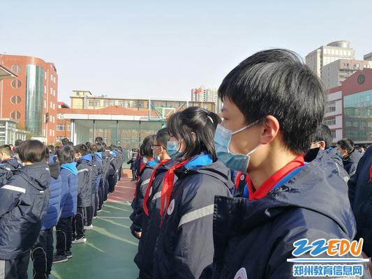 2.师生参加升旗仪式,全程佩戴口罩。 - 副本