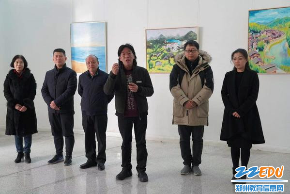 河南省美术馆馆长于会见致欢迎词