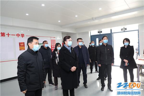 7视察新疆部宿舍,了解新疆内高班寒假前后疫情防控工作