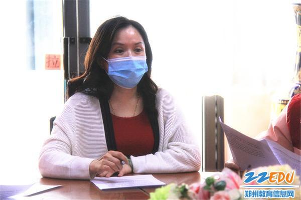 4.党总支书记张莉对寒假防控工作提出要求