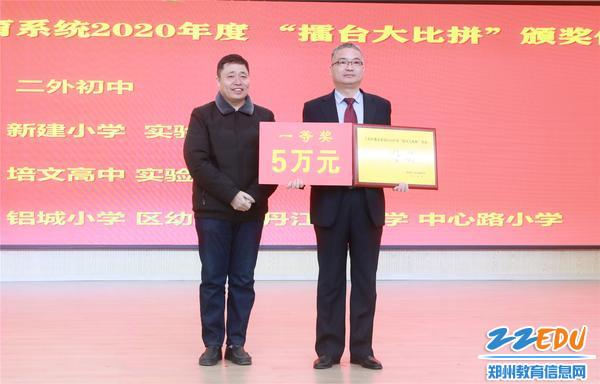 郑州市第二外国语中学获得一等奖