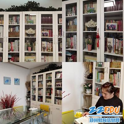 段亚萍在书房读书
