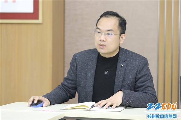 3教务处主任杨增勋作题为《深度教研立足实际,科学规划着眼未来》安排部署