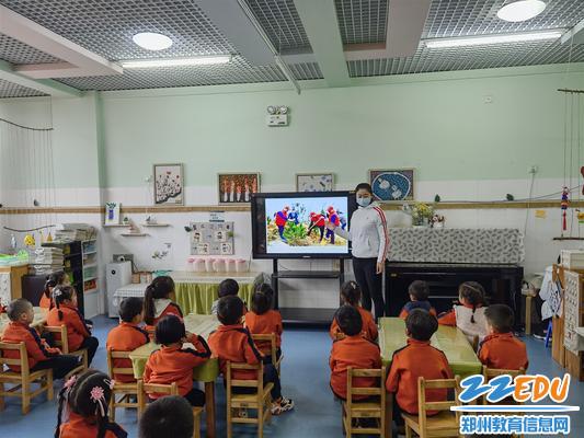 郑东新区普惠路幼儿园开展植树节教育活动 (1)