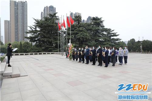 1.郑州艺术幼儿师范学校清明节祭英烈活动