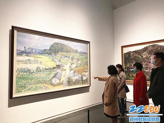 参观郑州市美术馆作品