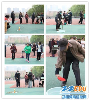 4退休教师认真参加比赛