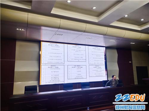 郑州梦想家装饰人事部负责人武延坡向同学们介绍岗位信息