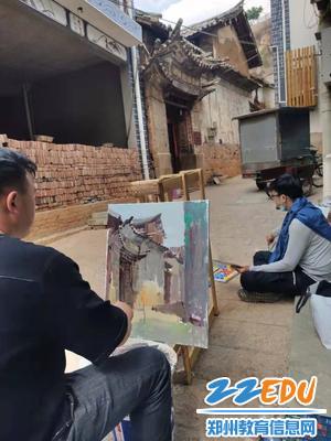 古镇绘画写生