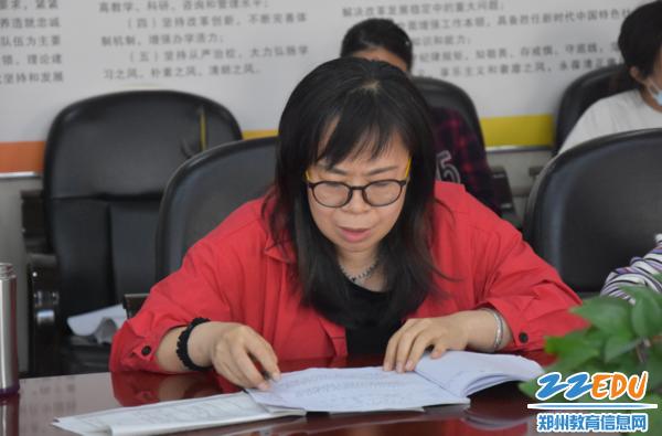 化学组刘艳萍老师陈述下一阶段的备考工作