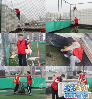 5.志愿者清理雨后垃圾