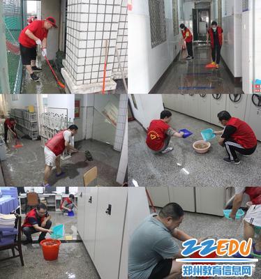 6志愿者进行积水排水